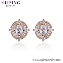 96025 Xuping Charm ladies jewelry diseños de moda Diamante Pendientes