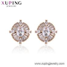 96025 Xuping Charm Mesdames bijoux design de mode Diamond Boucles d'oreilles