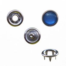 9.5mm Pearl Prong Fastener with Sapphire Cap