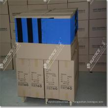 A palete de polietileno resistente cobre películas de paletes
