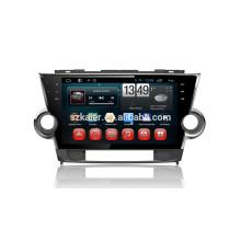 Fábrica de Kaier - Pantalla completa de la base del tacto DVD del coche de android 4.4.2 para Toyota Highlander 2012 + vínculo de Mirrior + OBD2 + TPMS + Glonass