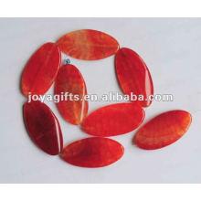 50X25X6MM Красные агатовые оливковые бусины