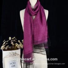 O lenço reversível de seda de lãs da cor sólida da dupla camada aceita o serviço do OEM e do ODM