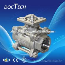 3pc высокой платформе внутренней резьбой шаровой клапан