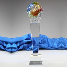 El trofeo más nuevo popular del pescado cristalino del nuevo diseño