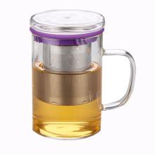 Personalizado de acero inoxidable filtro de vidrio taza de té para regalos