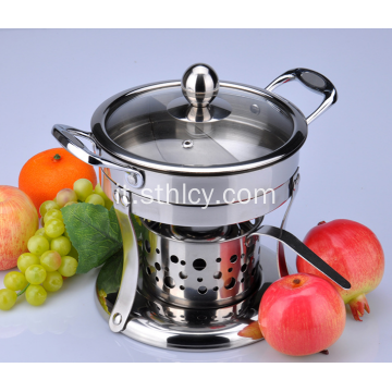 Hot Pot Mini in acciaio inox con stufe