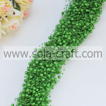 3+8MM Dark Green Imitation Pearl Beaded Garland For Decoration