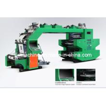 4 colores de alta velocidad de máquinas de impresión flexográfica