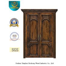 Puerta de acero de doble seguridad estilo vintage (m2-1020)