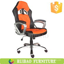 2016 Best Popular Orange Leather Office Chair Manufacturer