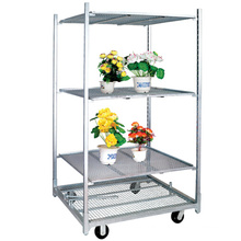 A50 Australian Market Hoticultural Center Flower Plant Display Cart, Flower and Plant Nursery Trolley