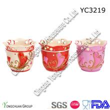Pot de fleurs en céramique peinte à la main sur la promotion