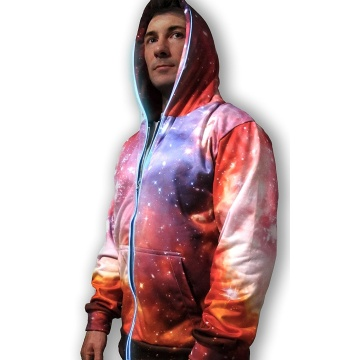 Sudadera rosa 3D Galaxy Lights Up