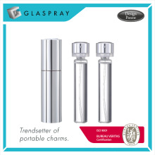 KIRA Silver 20ml Refillable Fragrance Spray Bottle