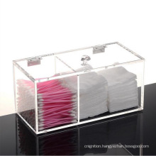 Multi-functional Clear Acrylic Cotton Pad Holder Dispenser Storage Box