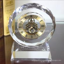 Horloge en cristal promotionnel cristal cadeau table horloge