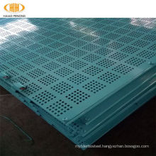 High rise blue wall protective climbing rack network of lifting frame for building construction site