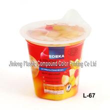Étiquette en PVC antidéflagrante pour jus de fruits