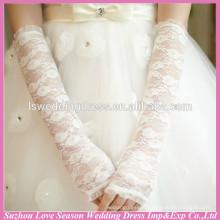 WG0005 bridal wedding wear elbow length lace gloves