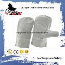 Cowhide Leather Mittens Industrial Safety Welding Work Glove