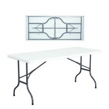 Fabricação de alta qualidade 6FT ao ar livre de plástico dobrável mesa de jardim