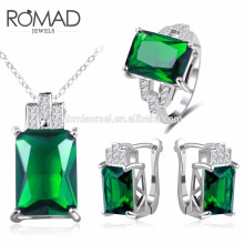 2017 OEM wholesale jewelry teardrop necklace and earrings jewelry set