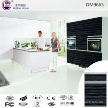 Gabinete de despensa de cocina de color negro acrílico