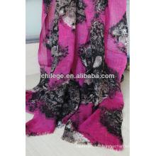 Mélange de couleurs laine peignée pashmina châle