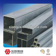 Tube carré creux en acier galvanisé doux utilisé dans la construction