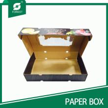 2015 Neue Karton-Wellpappe Äpfel Verpackungsbox Obstkiste mit klarem PVC-Fenster