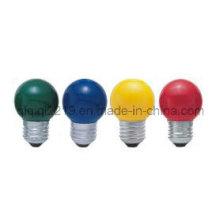 Bombilla incandescente de la forma de la bola G45 con el revestimiento del color