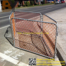 Chain Link Temporary Fence Iron Fence Crowd Control Barrier Mesh Fencing