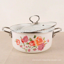 enamel tomato paste cooking pot with glass lid