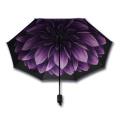 Ladies Fashion Nice Wedding Gifts Flowers Inside Full Print Umbrella
