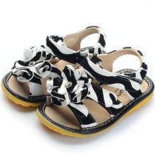 Zebra Printing Big Flower Детские сандалии