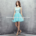 2017 best quality customized mint color short design chiffon bridesmaid dress