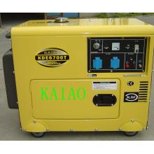 5kw soundproof gerador diesel conjunto KDE6700T Soundproof gerador