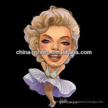 Pintura atractiva del arte de Marilyn Monroe para la decoración