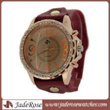 Jean Buckle Leather Strap Ladies Quartz Fashion Watch