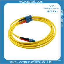 LC-Sc Singlemode dúplex fibra óptica patchcord