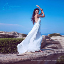 Lace Appliques Crystal Chiffon Satin Cheap Wedding Dresses