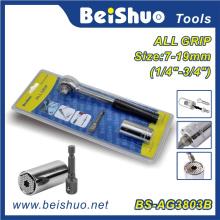 Heißer Verkauf 3/8-Zoll-Universal-Steckschlüssel mit Gummi-Ratschengriff