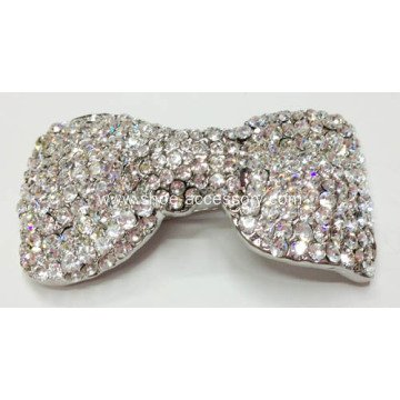Bow Shapes Rhinestone Decorative Clips