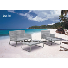 High Quality PE Rattan Wicker Sofa Set Bw-406