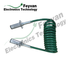 Custom TPU Coated Electrical Coiled Wire Cable Assembly