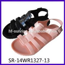 SR-14WR1327-13 las nuevas señoras de las sandalias de la jalea de la manera sandalias al por mayor de la jalea del talón de las mujeres de las sandalias de la jalea