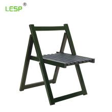 Foldable field camp steel wood chair