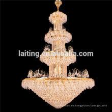 Large gold lobby incandescent luminaire pendant chandelier 65004