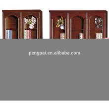 economic antique wooden bookcase with photos